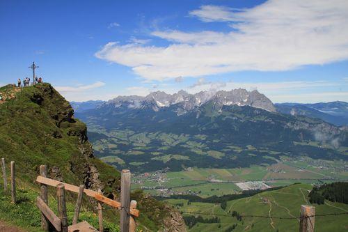 """Österreich - Blick vom """"Kitzbüheler Horn"""" zum """"Wilden Kaiser""""."""