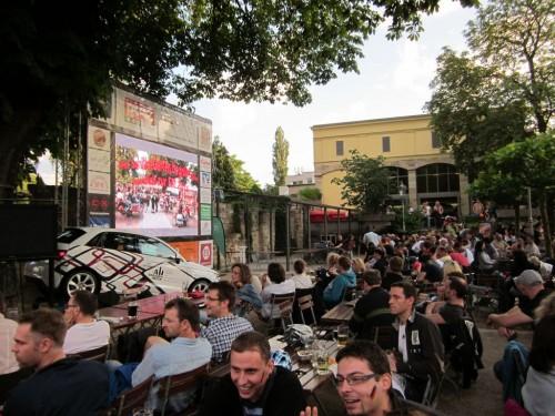 2012/06 - Fußball EM im Schillergarten Dresden