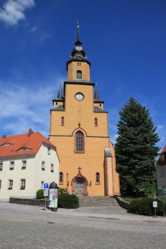 Kirche Oederan mit Orgel von Gottfried Silbermann