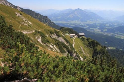 """2015/08 - Blick vom """"Wilden Kaiser"""" zur Gruttenhütte."""