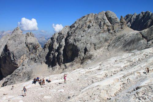 2016/08 - Aufstieg zum Gletscher an der Marmolata.