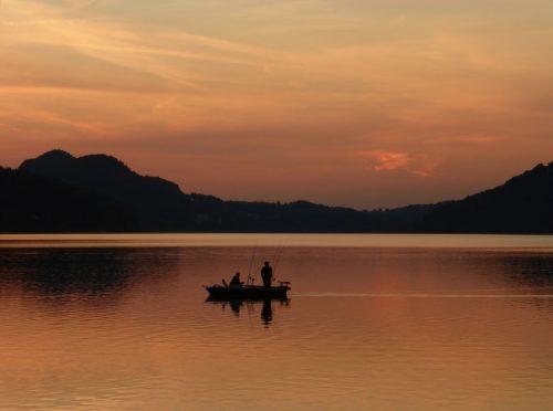 """2016/09 - """"Fuschl am See"""" Sonnenuntergang am See."""