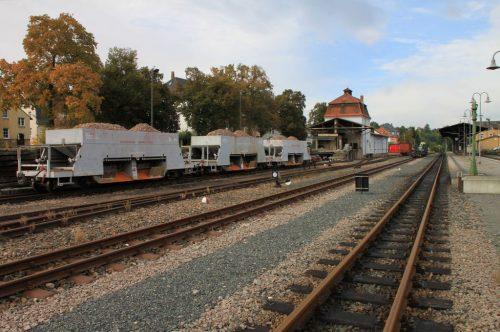 2016/10 – Bahnhof der Kleinbahn Dippoldiswalde.