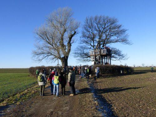 2016/12 – Treff der - GeoCacher und Laufsportfreunde an der Babisnauer Pappel.