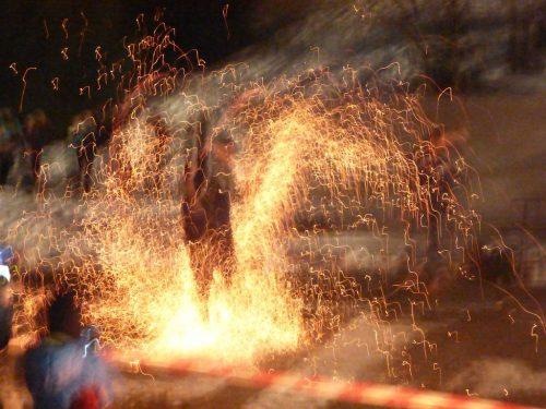 2017/03 – Am Abend gab es eine Feuershow.