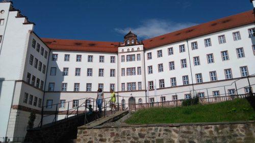 2017/07 - Im Hof von Schloss Colditz.