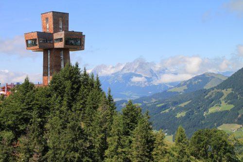 2017/08 - Das neue Gipfelkreuz bei Fieberbrunn.