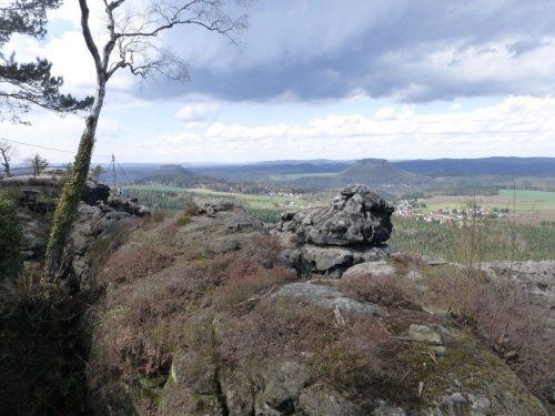 """2018/04 - Blick in das Elbsandsteingebirge auch """"Sächsische Schweiz"""" - Bild 1"""