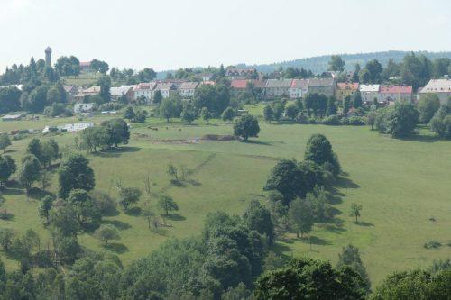 2018/06 Blick nach St. Katharinaberg nach Tschechien.
