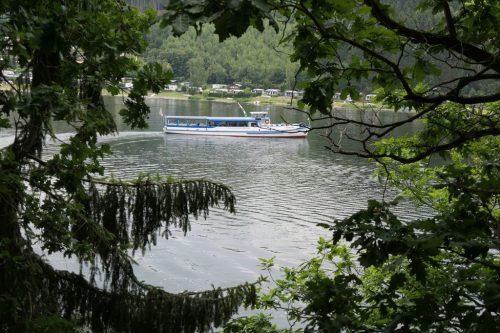 2018/07 - Blick auf den Hohenwarte Stausee.