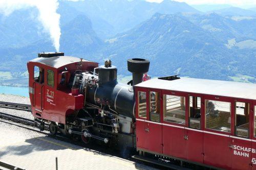 2018/08 - Historische Schafberg Zahnradbahn in St. Wolfgang.