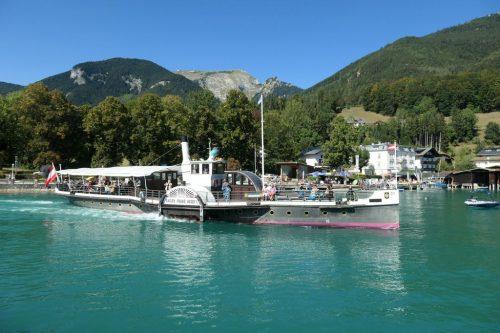 """2018/08 - Dampfschiff """"Kaiser Franz Josef"""" am Wolfgangsee."""