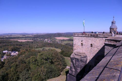 """2019/09 - Blick von der Festung in die """"Sächsische Schweiz""""."""