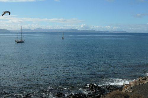 2019/11 - Blick vom Strand Playa Blanca nach Fuerteventura.