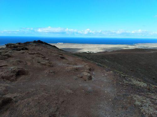2019/11 – Lanzarote – Playa Blanca – Blick von oben aus Meer.