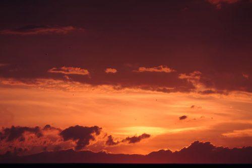 2020/07 - Abendrot vor dem Sonnenuntergang.