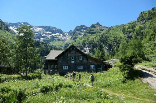 """2021/07 - An der """"Hans-Wödl-Hütte"""" angekommen."""