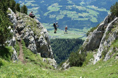 2021/07 - Auch die Jüngsten sind am Klettersteig.